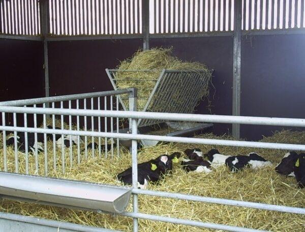 Høhækken ses her, opsat i en Kalvehytte