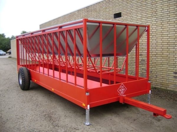 Mobil fodercontainer RB600. 6x2m